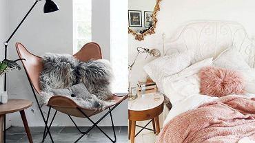 Sztuczne futro w domu - futrzane poduszki, pledy i nie tylko
