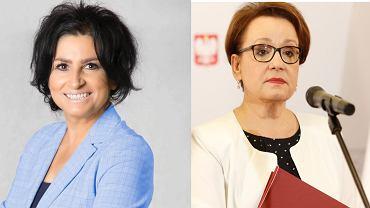 Agnieszka Kołacz-Leszczyńska, senator Platformy Obywatelskiej i Anna Zalewska, europoseł PiS