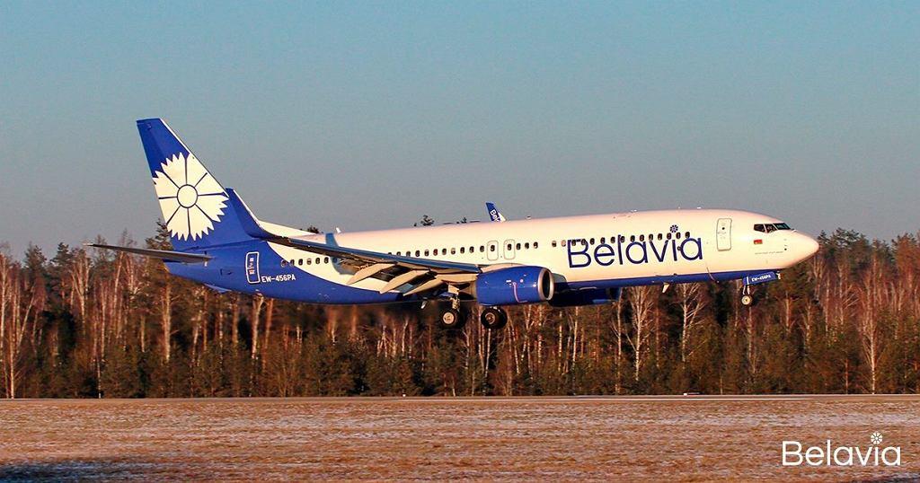 Samolot białoruskiej linii Belavia