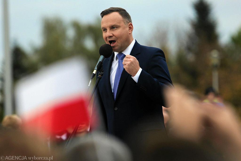 Wizyta prezydenta Andrzeja Dudy w Oświęcimiu
