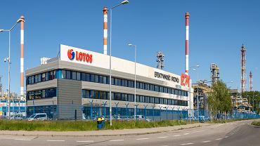Rafineria firmy Lotos w Gdańsku