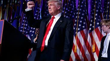 Donald Trump podczas wieczoru wyborczego