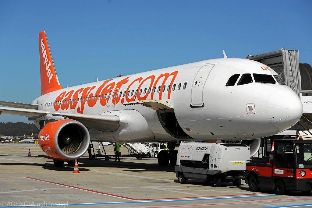 Samolot linii lotniczych easyJet