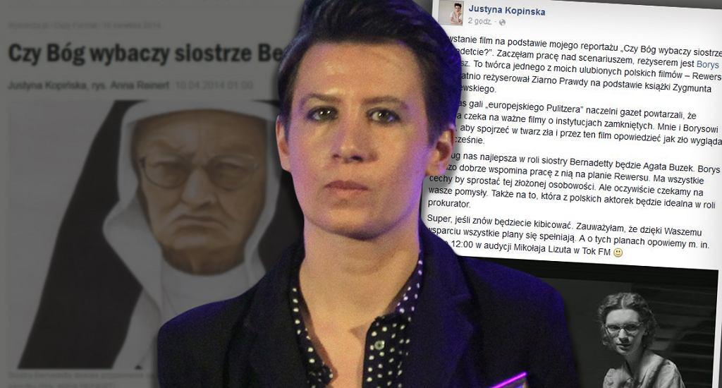 Na pierwszym planie Justyna Kopińska