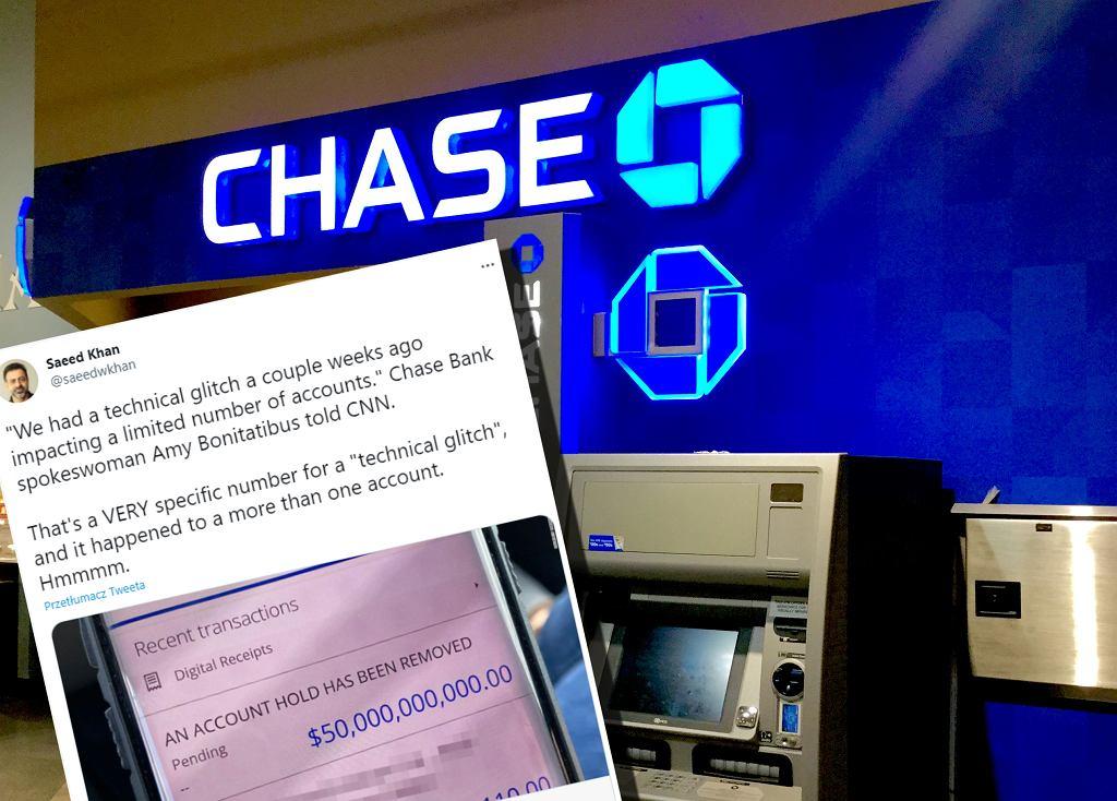 Chase Bank omyłkowo przelał 50 mln dolarów