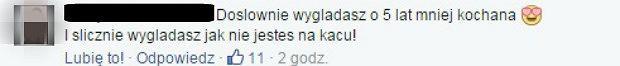 Komentarz z Facebooka Małej Ani