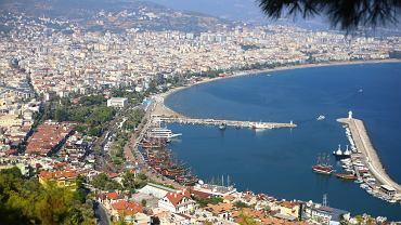 Widok na miasto Alanya w Turcji