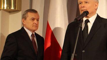 Jarosław Kaczyński i prof. Piotr Gliński