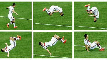 Miroslav Klose po zdobyciu bramki jak zwykle okazywał radość... robiąc salto
