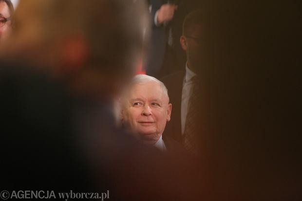 Jarosław Kaczyński na konwencja wyborczej kandydatów PiS w Częstochowie, 3 października 2019