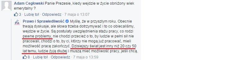 Jarosław Kaczyński o obniżaniu wieku emerytalnego