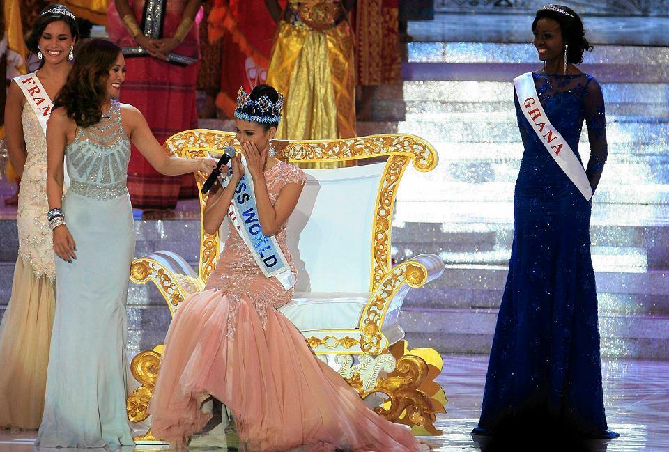 Wzruszona nowa Miss Świata