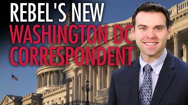 Jack Posobiec jako dziennikarz skrajnie prawicowego portalu Rebel Media