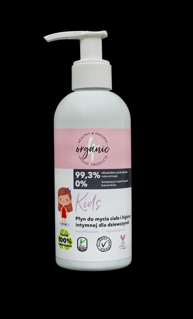 Płyn 4organic do mycia ciała i higieny intymnej dla dziewczynek