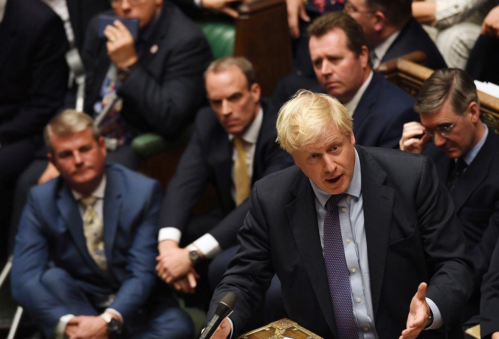 Brexit. Boris Johnson w Izbie Gmin.