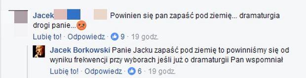 Jacek Borkowski rozmawia z fanem