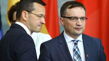 Wizyta premier Beaty Szydło w Berlinie, na zdj. Mateusz Morawiecki i Zbigniew Ziobro