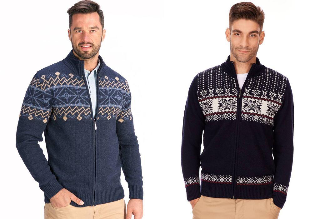 Swetry męskie z modnym wzorem