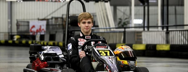 Karol Urbaniak na torze Racing Center Warsaw