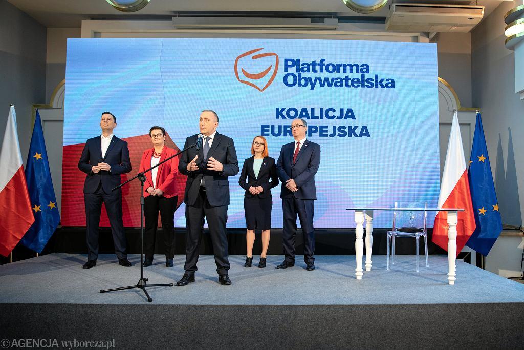 24.02.2019, Warszawa, konferencja pasowa liderów Koalicji Europejskiej.