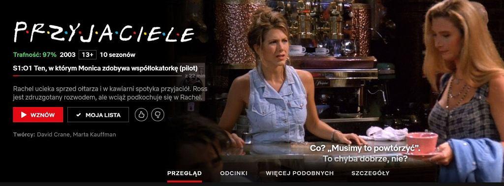 screenshot z Netflixa