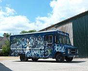 Banksy ciężarówka SWAT