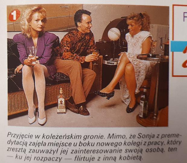 Fragment fotostory opublikowanego w 'Twoim Weekendzie' z 1992 r.