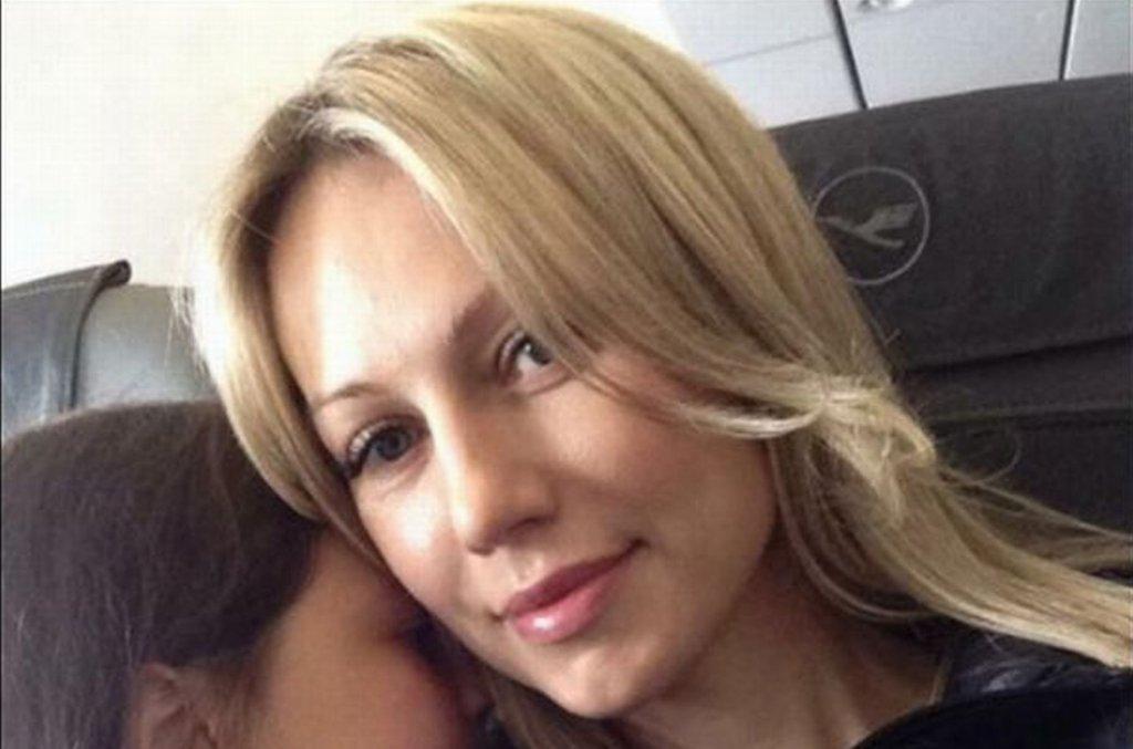 Magdalena Ogórek z córką