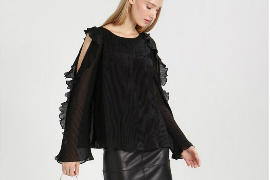 czarna elegancka bluzka