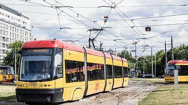 Tramwaje na Rondzie 'Radosława' w Warszawie