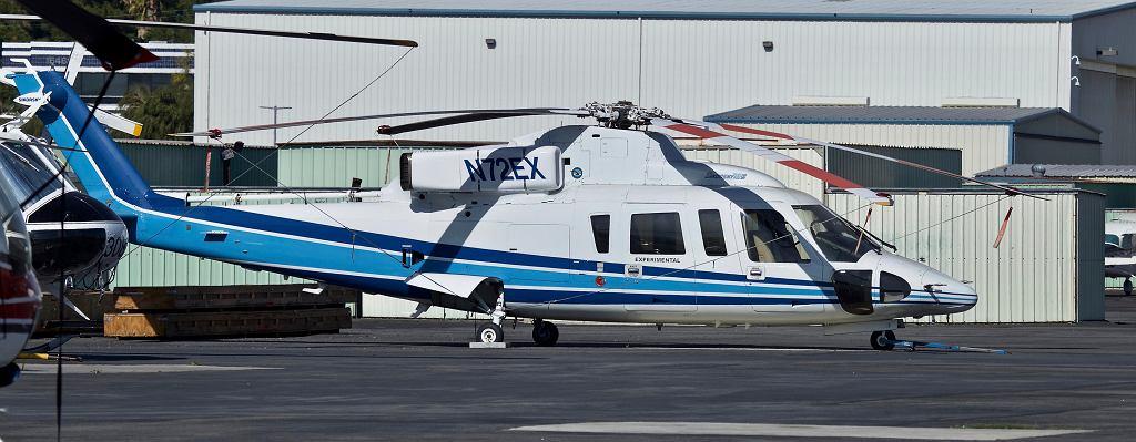 Śmigłowiec S-76B o rejestracji N72EX. Ten konkretny, który uległ katastrofie