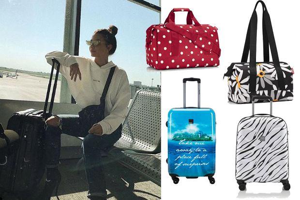 Kolaż, walizki i torby podróżne/Materiały partnera/https://www.instagram.com/juliawieniawa/