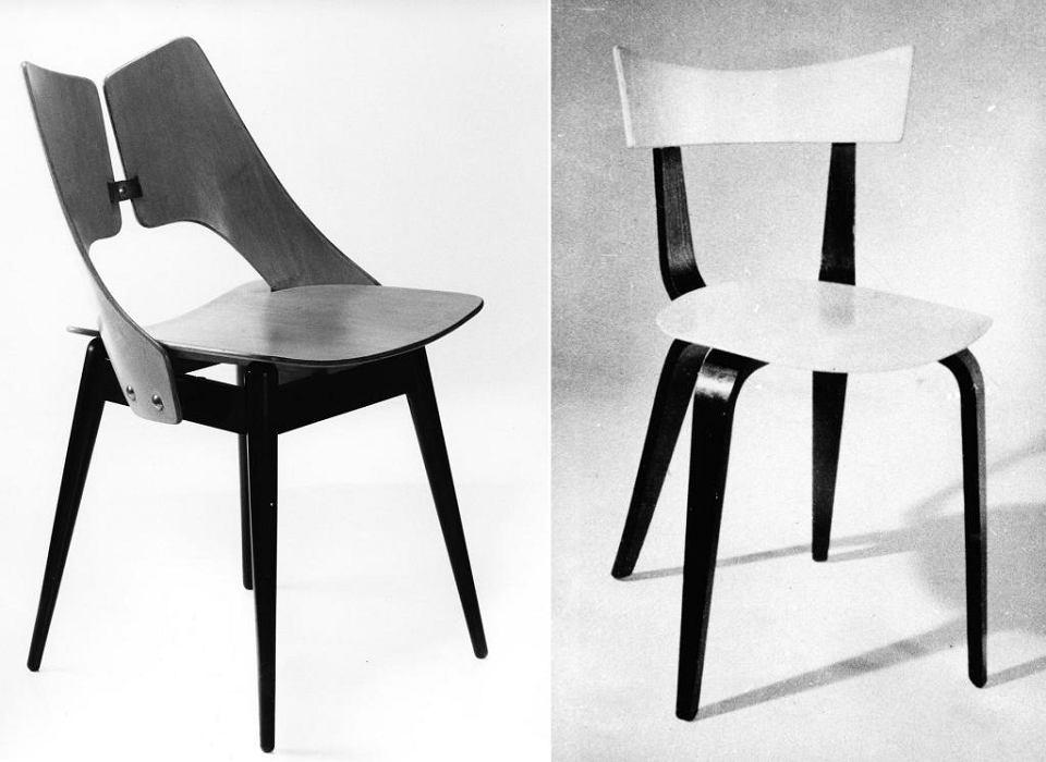 Od lewej: Krzesła 'Płucka' i 'Pająk', ikony polskiego designu