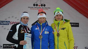 Karolina Pitoń, Krystyna Guzik i Monika Hojnisz na podium mistrzostw Polski 2015