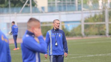 Trener Arki Gdynia Dariusz Dźwigała