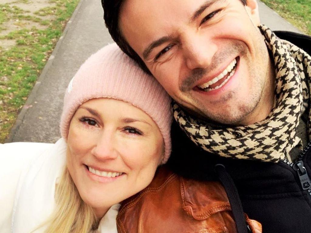Mikołaj Krawczyk z żoną