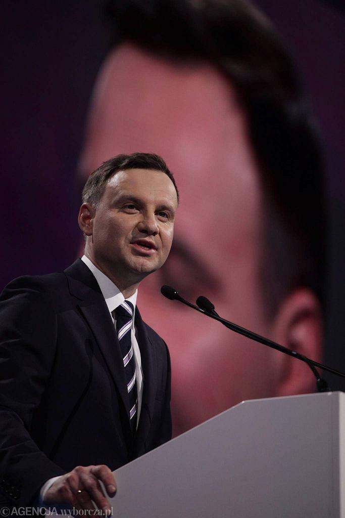 Andrzej Duda podczas konwencji wyborczej