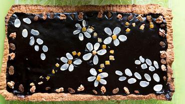 Mazurek z powidłami i czekoladą