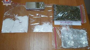 Narkotyki przechwycone podczas zatrzymania Doroty P., fot. Policja lubelska