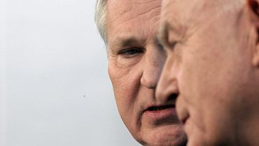 Szorstka przyjaźń. Aleksander Kwaśniewski i Leszek Miller (fot. Sławomir Kamiński/AG)