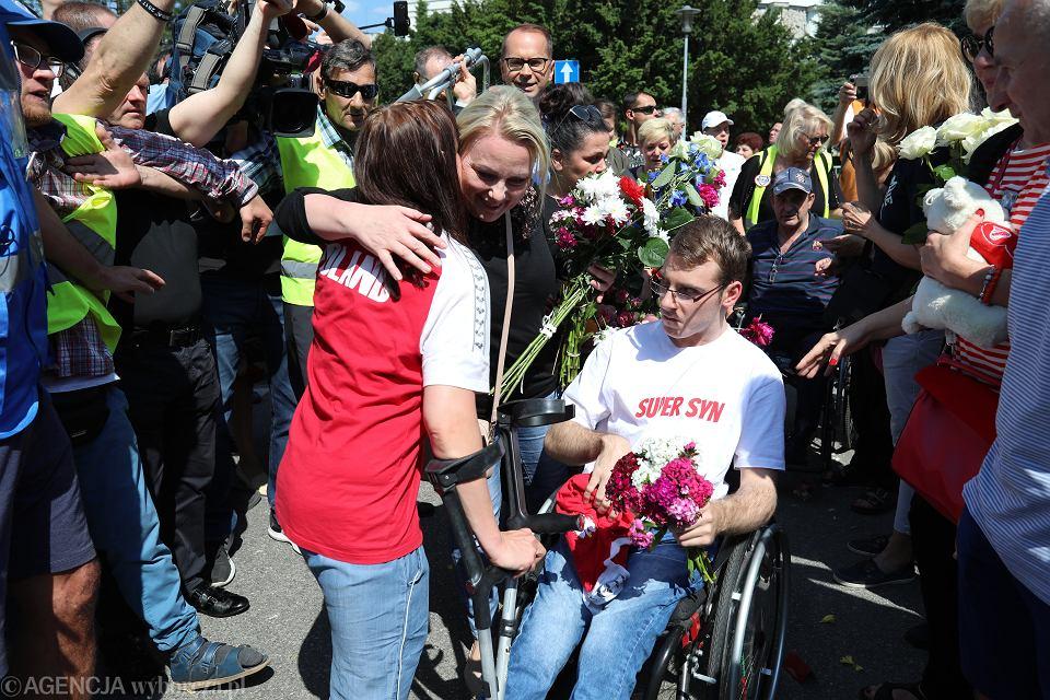 27 maja 2018 r. Zakończenie 40-dniowego protestu w Sejmie osób z niepełnosprawnościami i ich opiekunów