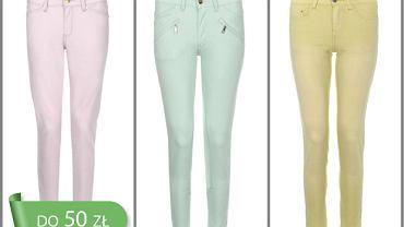 Pastelowe spodnie do 50 zł - 10 propozycji