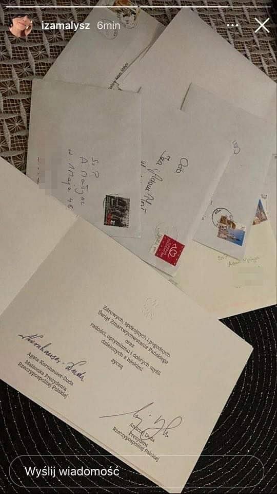Małyszowie dostali kartkę świąteczną od pierwszej pary