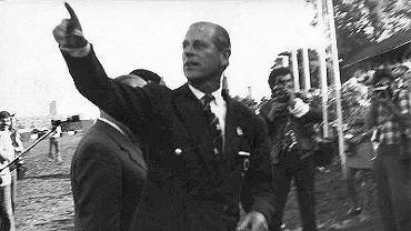 Sopocki hipodrom, sierpień 1975. Brytyjski książę Filip