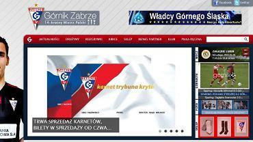 Reklama Ruchu Chorzów na stronie Górnika Zabrze