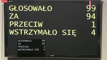 Głosowanie na ustawą o wyborach prezydenckich