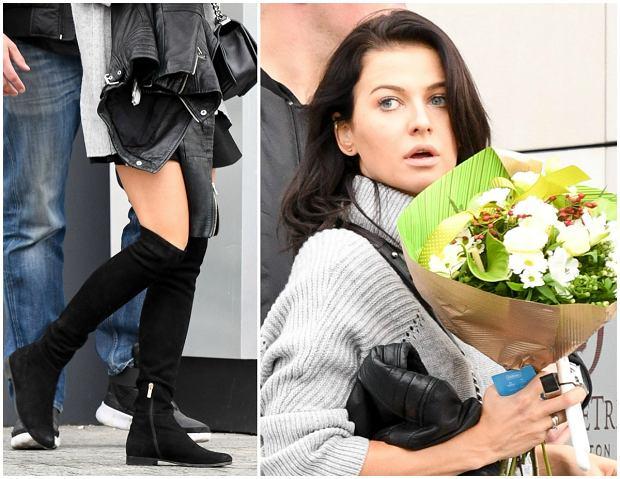 Zdjęcie numer 4 w galerii - Anna Lewandowska z romantycznym prezentem od męża. W tak krótkiej spódnicy jeszcze jej nie widzieliśmy. No i TE buty. Inspirowała się siostrami Kardashian?