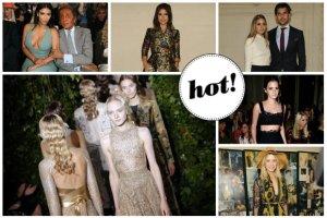 Valentino Haute Couture: W pierwszym rzędzie elegancka Kim Kardashian, rockowa Emma Watson i dziewczęca Olivia Palermo z mężem [ZDJĘCIA]