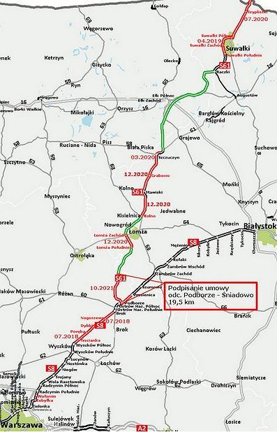 Via Baltica na terytorium Polski (S8 i S61)
