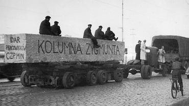 Transport nowej kolumny w 1949 r.